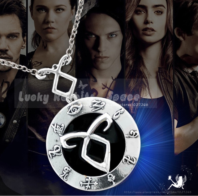 Nueva Hot Película The Mortal Instruments And City of Bones Fuerza City Of Angels Cazadores de Huesos Clavícula Collar