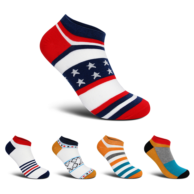Clothing to You  5pairs/lot High Quality Colorful Happy Socks Men Funny Cotton Short Ankle Cartoon Socks New Fashion Luxury Brand Meias Homens