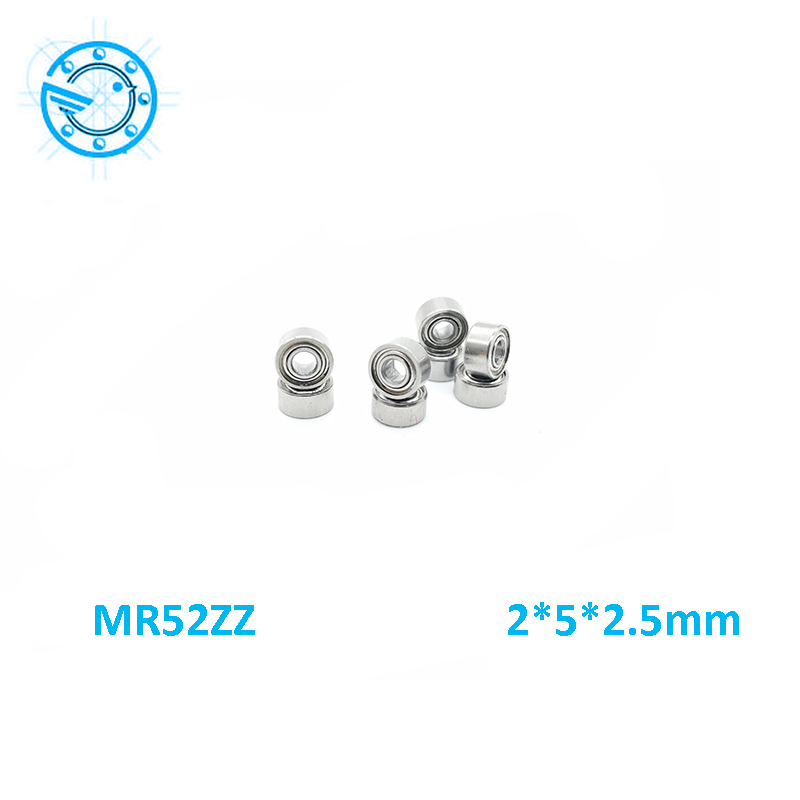 Free shipping 10pcs High quality Low-speed bearings MR52 Z  MR52ZZ MR52Z L-520ZZW52 2x5x2. 5 mm  2*5*2.5 mm  цена и фото