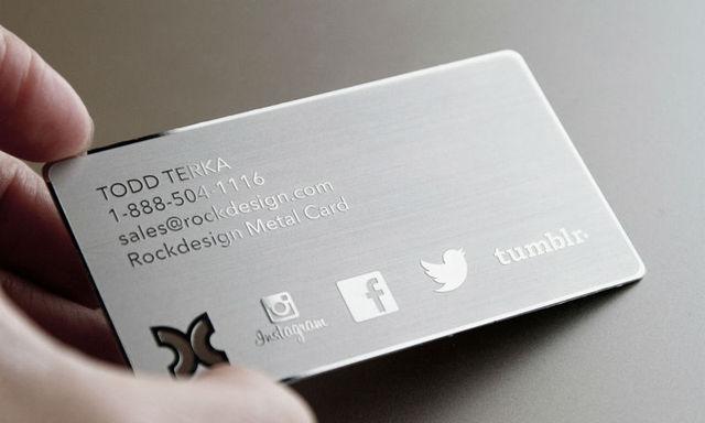 Acier Inoxydable Cartes Exclusives Argent Metal Carte De Visite Meilleur Qualite Livraison Gratuite