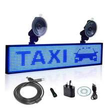 12 В 50 см P5 Белый SMD автомобильный грузовик такси заднее окно прокрутка светодиодный дисплей беспроводной быстро программируемый Поддержка Автомобильное зарядное устройство