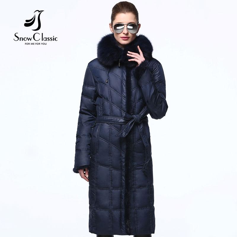 Down coat winter women real fox collar white duck down parka mink fur coat winter coat