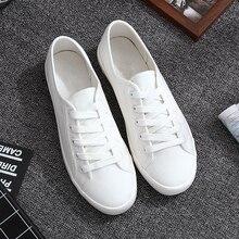 Classic White font b Sneakers b font font b Women b font Casual Canvas Shoes Female