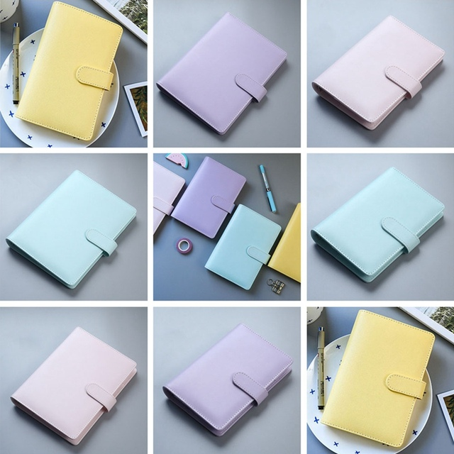 PU Leather A5 A6 Notebook Diary Schedule Book Planner Diary Loose leaf Binder Cute School Supplies