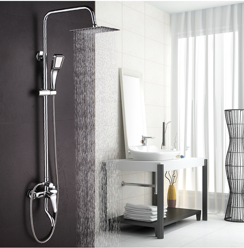 Dofaso bath shower set stainless rain bathroom shower faucet large ...