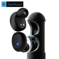 Samload Twins Mini True Wireless Bluetooth Earbuds Headset Double Micro Wireless Earphones Stereo Headphones with Charge Box