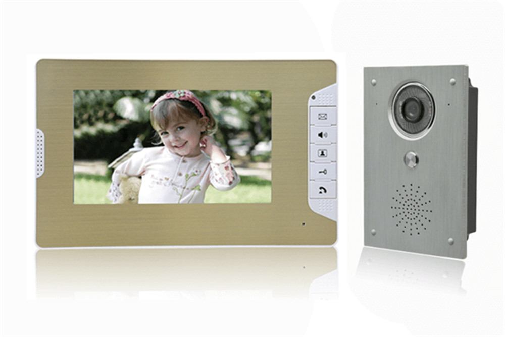 7 Inch TFT Monitor IR Night Vision Intercom  Video Door Phone 7 Inch TFT Monitor IR Night Vision Intercom  Video Door Phone