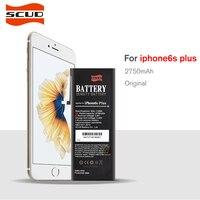 100%オリジナルscud携帯電話バッテリーのためiphone 6 sプラスリアル容量2750 mahで修復ツールキットとバッテリーステッカー
