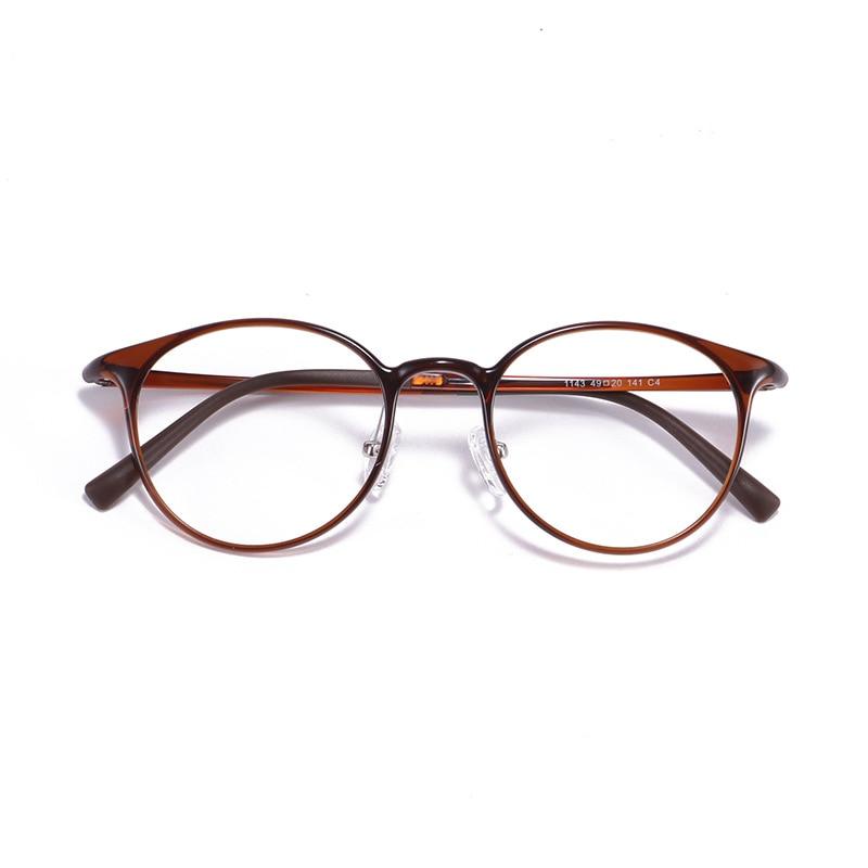 Round Retro Ultralight Slim Ultem Soft  Prescription Frame Student Decoration Myopia Eyeglasses Eyewear L3