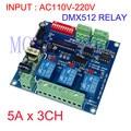 1 stücke 3CH * 5A DMX512 relais eingang AC110V 220V verwendung für led lampe led streifen DMX RELAY 3CH 220 BAN kostenloser versand| |   -