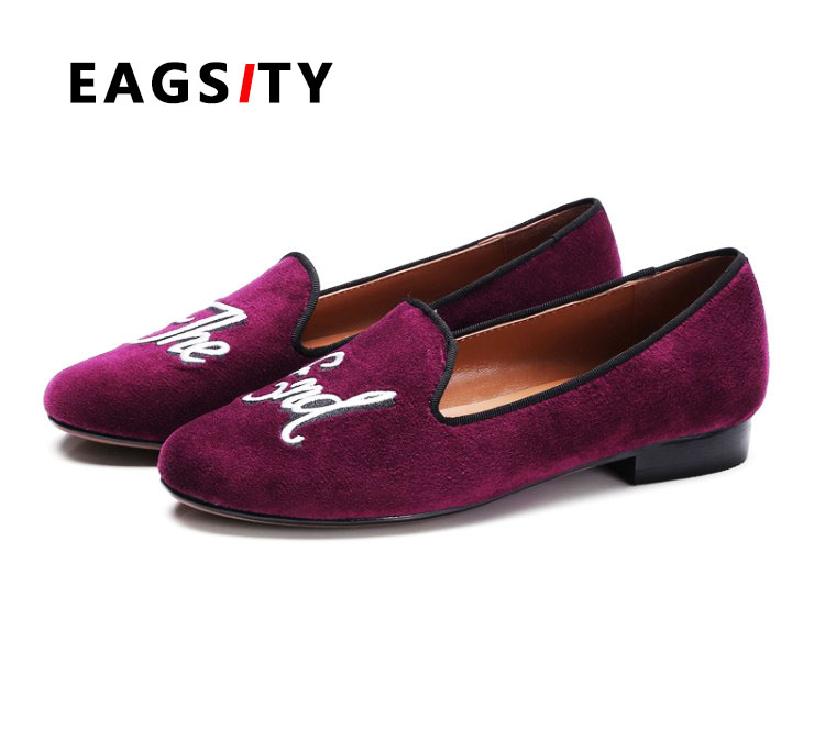ФОТО 2017 spring new arrive high quality Fashion velvet women round toe flat loafer single shoes ladies shoes purple green