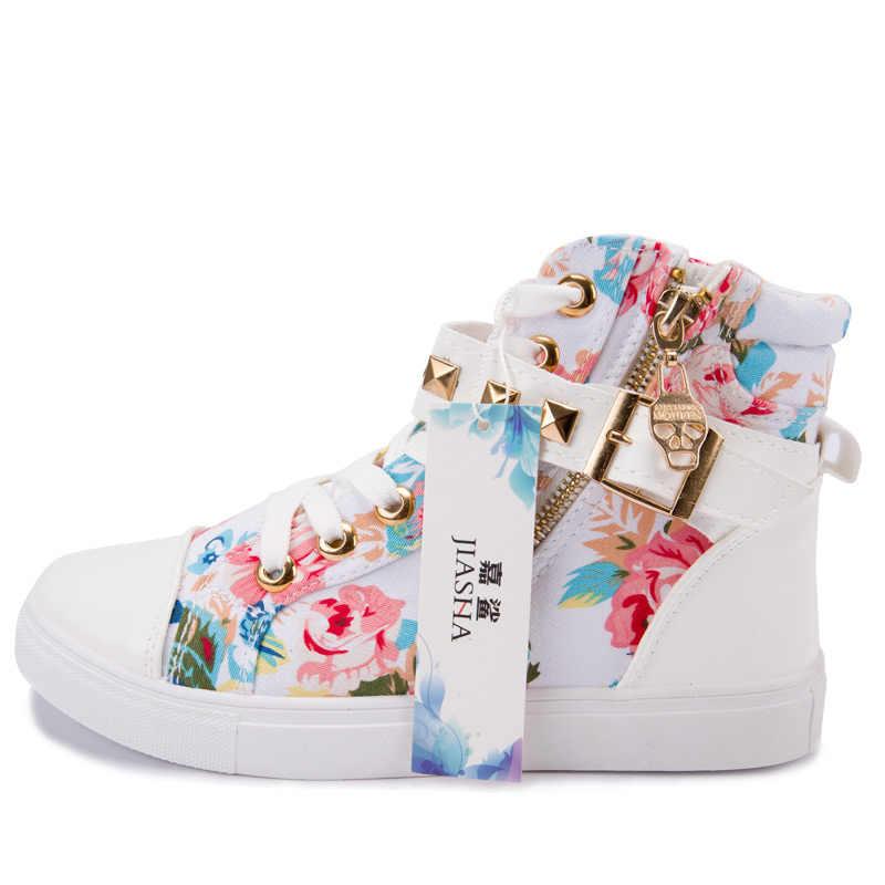 9d8f2764 ... Парусиновые туфли tenis feminino 2019 женская обувь модные молнии Клин  Высокая помощь сплошной цвет белый Дамская