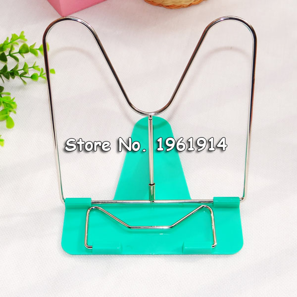 Free Shipping Portable Adjustable Steel Book Document Holder Frame Reading Desk Book Stand Bookrest Bookstand vividcraft 1pc portable adjustable folding tablet book holder for reading decorative bookends office desk holder tilt bookstand