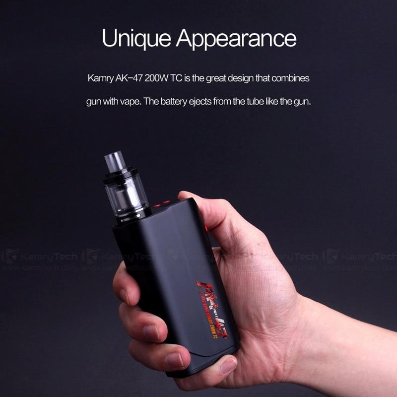 10pcs 100% Hot original Kamry AK-47AK47 200W TC MOD BOX Built-in 4500mah battery fit for vaporizer e cigarette mod vs kamry 80w алмазная пила кратон tc 10