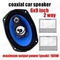 Nuevo 1 Par 6x9 pulgadas de Altavoces Del Automóvil Coaxial Auto Automotive Car Audio de Altavoces de Sonido estéreo de la venta caliente 2x180 W