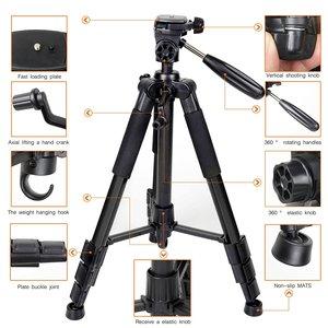 Image 5 - Профессиональный портативный алюминиевый штатив Q111 для путешествий с цифровой камерой, аксессуары для SLR, штатив для цифровой зеркальной камеры