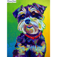 MOONCRESIN Diamond Mosaic Beautiful Color Dogs Embroidery Full Diy Painting Cross Stitch Decoration Diamant Kits