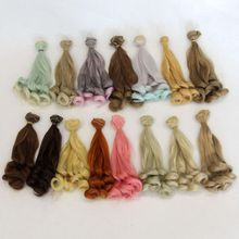 Doll tresses 20*100cm DIY Mini Wig High-Temperature Material Curly Hair For Russian Cloth BJD Accessories