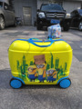 New  fashion luggage children Minions  suitcase cartoon animation  luggage with rolls  ,  EVA  travel suitcase wheel