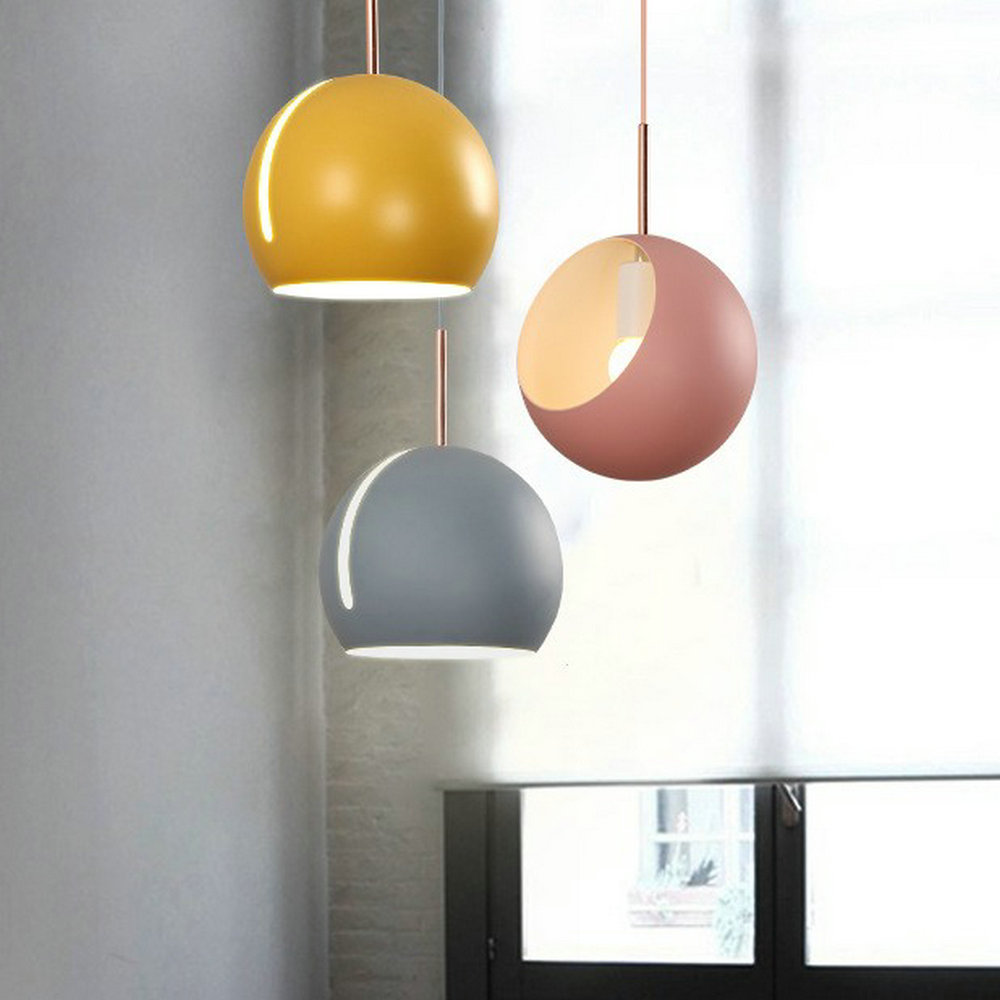 220v 110v jaune bleu vert gris blanc noir moderne suspension lampe pour intérieur maison salle à manger chambre cuisine