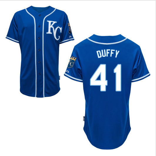 41 Danny Duffy jersey Stitched Kansas City Royals baseball jerseys  Customized cheap authentic custom buy direct china new brand 3aa104ddf