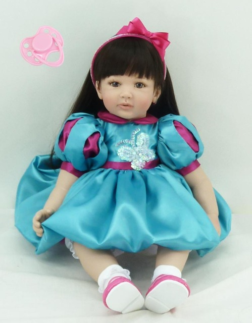 58cm Silicone Vinyl Reborn Baby Doll Toys Kids Child Birthday Christmas New Year Gifts High Quality