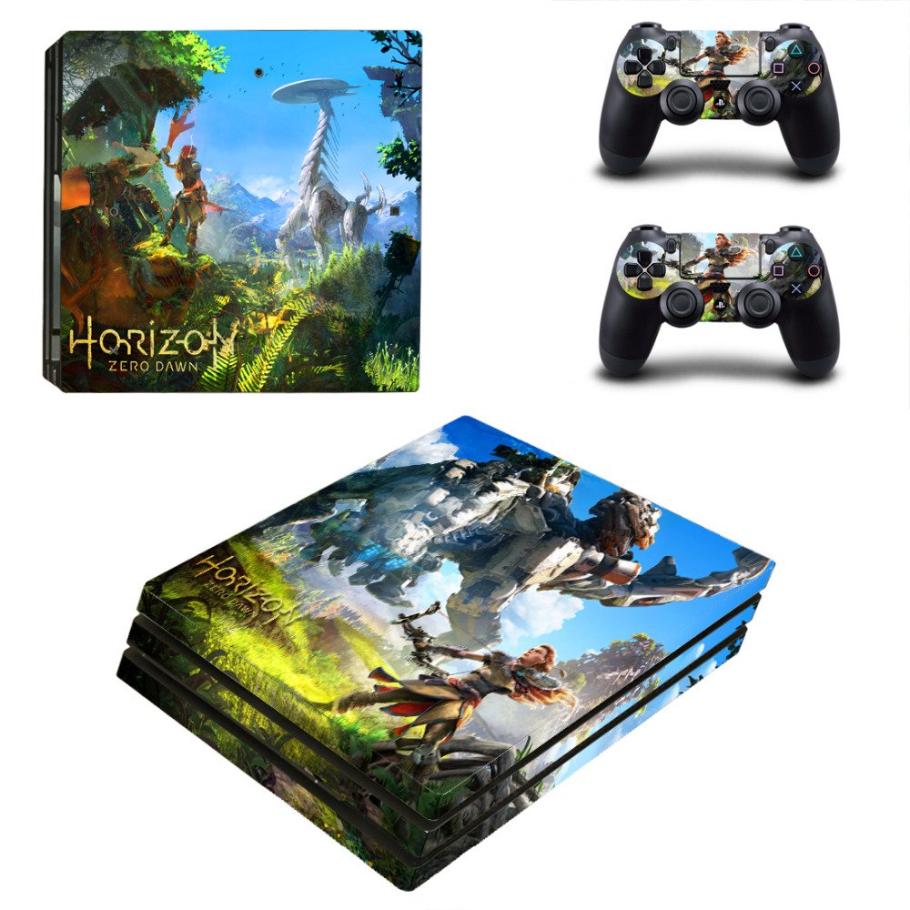 Horizon Zero Dawn PS4 Pro Skin Sticker Decal for Sony PlayStation 4 Console and 2 Controller PS4 Pro Skin Sticker Vinyl