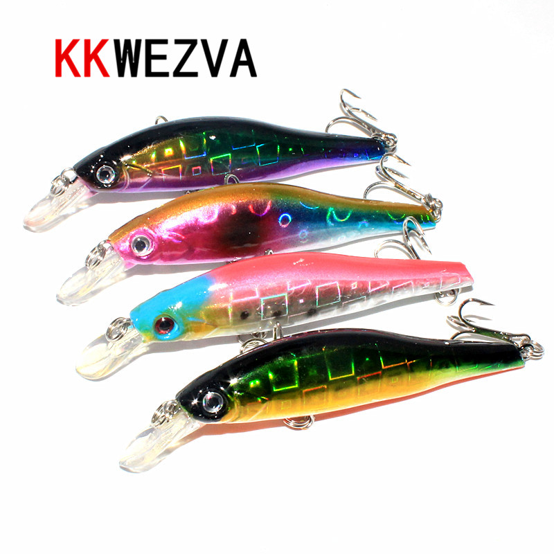 KKWEZVA 4pcs 9.7cm 12g Temptation Fishing Lures Minnow Crank Bait Crankbait Bass Tackle Treble Hook bait wobblers pesca 1pcs high quality 5 4g 6cm fishing lures minnow crank bait crankbait bass tackle treble hooks fishing tackles hard baits pesca