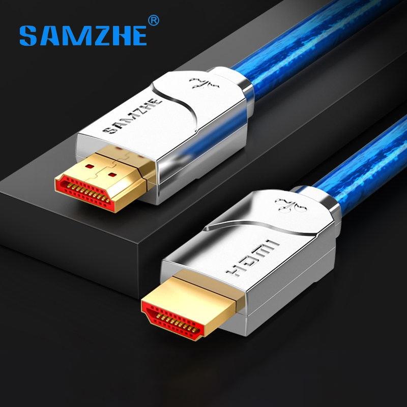 SAMZHE 4 K UHD HDMI Cable Digital de alta resolución 3840*2160 HDMI para el ordenador portátil y TV Box conecte gran pantalla Displayer