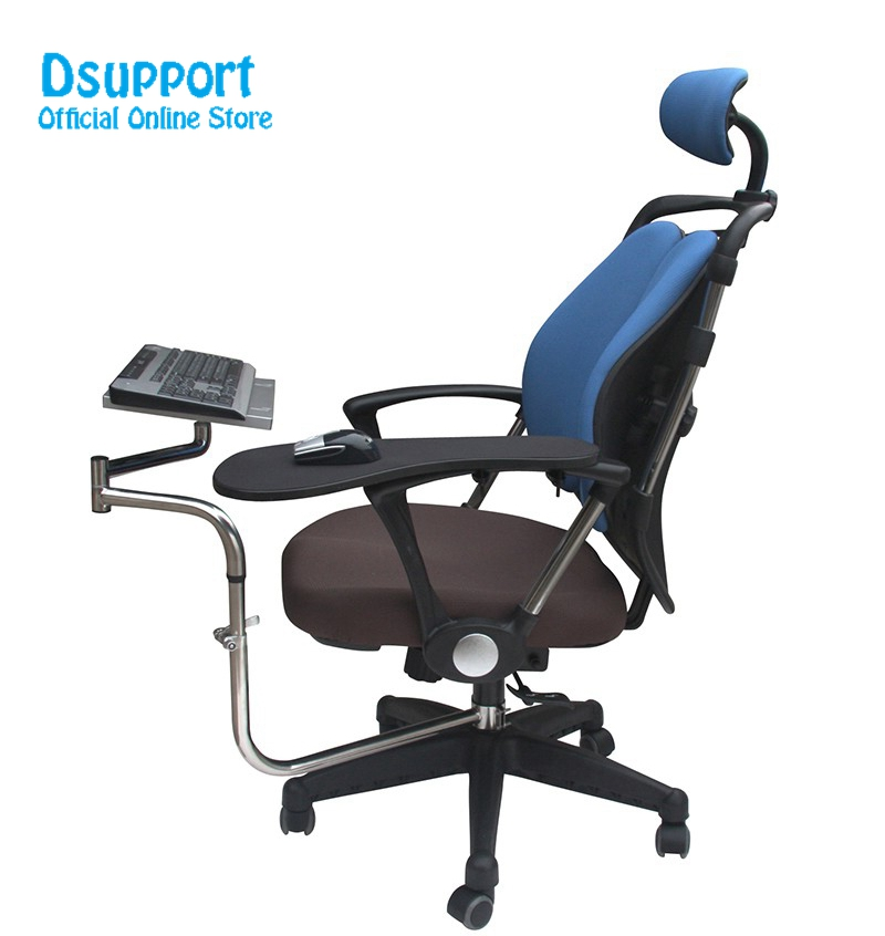 Laptop Stand Hyvarwey Ok133 Wheechair Clamping Notebook/ Laptop Holder Keyboard Pad Support+chair Arm Clamping Mouse Pad Lapdesk Let Our Commodities Go To The World