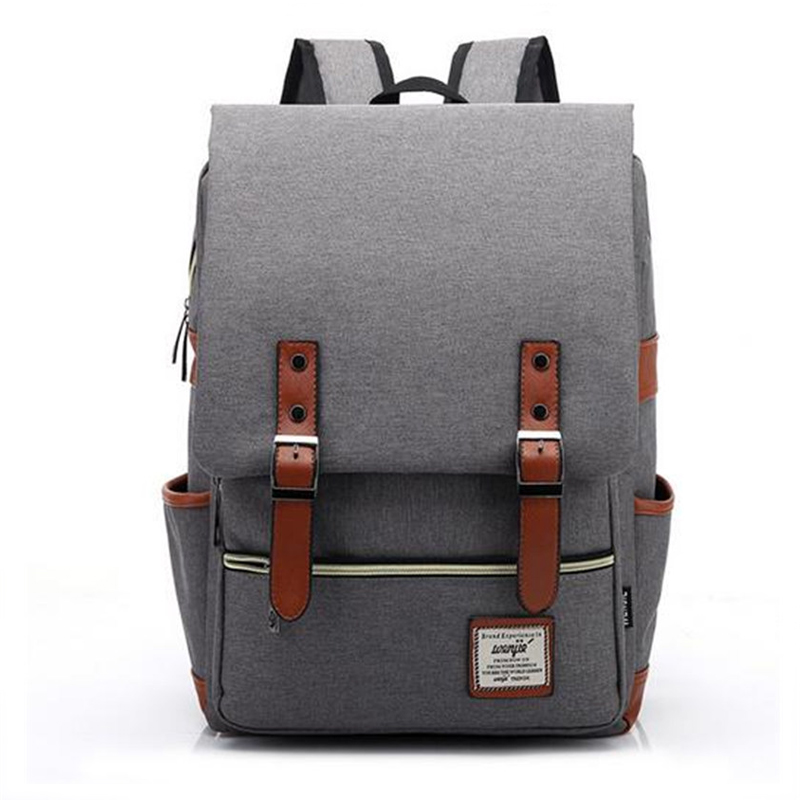 Man women Canvas Daily Backpacks for Laptop Large Capacity Computer Bag Casual Student School Bag packs Travel Rucksacks augur to 15laptop canvas school bags for teenage boys college student computer book bag stylish large capacity travel men bag