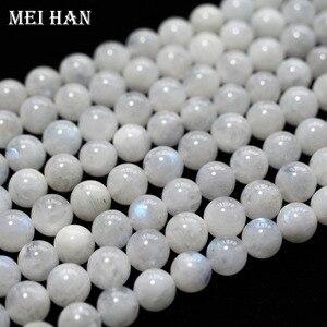 Image 5 - Meihan оптовая продажа (приблизительно 38 бусин/набор/53 г/) A + 9,5 10,5 мм натуральный лунный камень Гладкие Круглые свободные бусины для изготовления ювелирных изделий дизайн