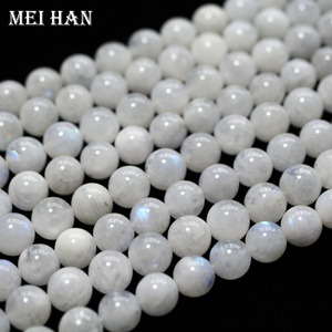 Image 5 - Meihan wholesale (approx 38beads/set/53g/)  A+ 9.5 10.5mm natural moonstone smooth round loose beads for jewelry making design