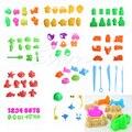 5-11 Pçs/lote Areia Brinquedo Modelo de Construção Kits Conjunto de Ferramentas Crianças Argila Do Polímero Playdough Massinha Plasticina Molde engraçado Brinquedo praia