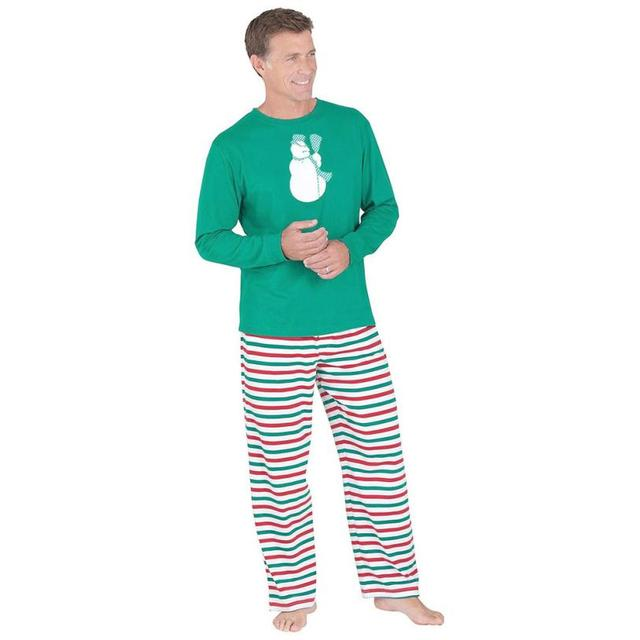 2pcs Spring and Autumn Adult Men Christmas XMAS Pajamas Set Sleepwear Nightwear Plus Size Amazing Sale