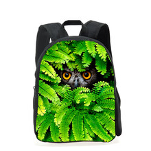 873c9afb2279 Camouflage Children 3D Animal Tiger Head Backpack Small Boys Owl Printing  School Backpack Kids Kindergarten Book Bags Mochila