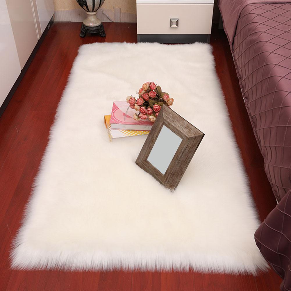 80 cm x 160 cm Rectangle Faux laine tapis doux tapis tapis de sol salon chambre décor livraison directe
