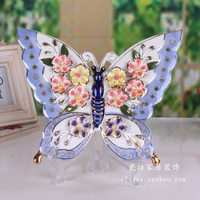 Flower Butterfly Decorative Wall Dishes Porcelain Decorative Plates Vintage Home Decor Crafts Room Decoration Figurine