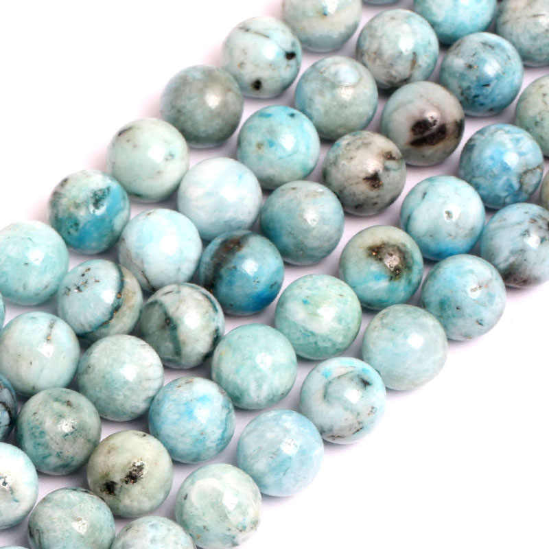 97478ba16 ... Gem-inside 6-12mm Natural Stone Beads Round Loose Blue Hemimorphite  Beads For Jewelry
