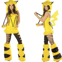 2017 HOT POKEMON NEWEST CHRISTMAS LOVELY SEXY YELLOW PIKACHU COSTUME FOR COSPLAY, NIGHTCLUB BAR AND DS PARTY