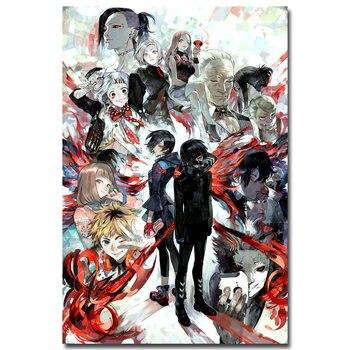 Аниме плакат гобелен шелковый Токийский гуль