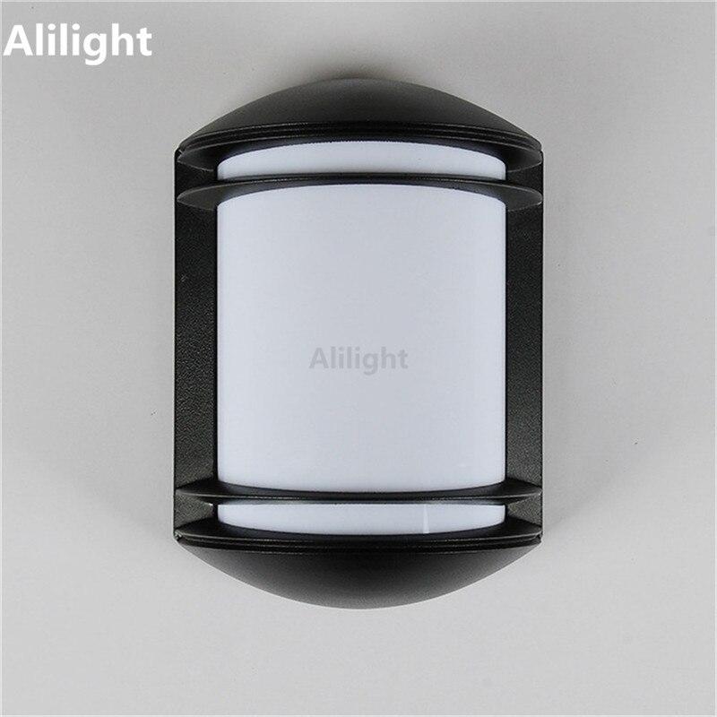 Modern Aluminium Outdoor Lighting Low Energy Led Garden Porch Light Metal Body Pc Lampshade Ac110