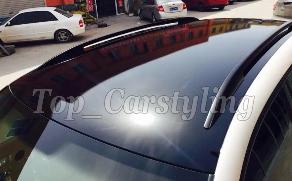 3 Layers High Glossy Black Vinyl Films Car Roof Wrap With
