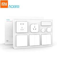 Original Xiaomi Aqara Mijia Smart Air Conditioner Mate Body Temperature Humidity Sensor Wall Socket Switch 2pcs