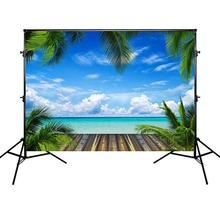 Summer Holiday Photography Backdrops Sea and Blue Sky Decoration Props Background Photographic for Photo Studio