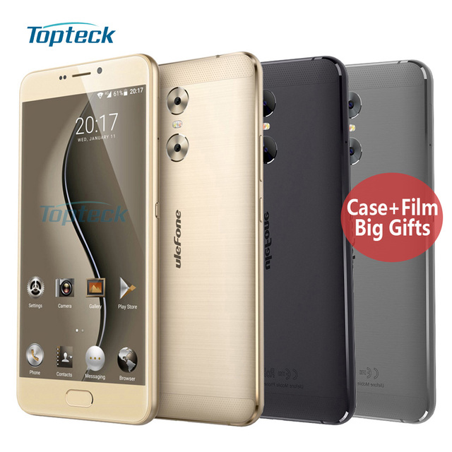 "uleFone Gemini Dual Camera 4G 5.5"" FHD 1080P Smartphone 1.5GHz Android 6.0 3GB+32GB 13MP Fingerprint ID 3250mAh OTG Mobile Phone"
