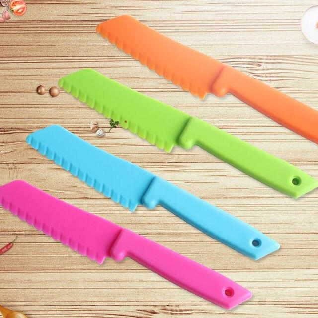 DIY Plastic Safety Children Vegetable Fruit Dessert Bread Knife Kitchen Tools Free shipping