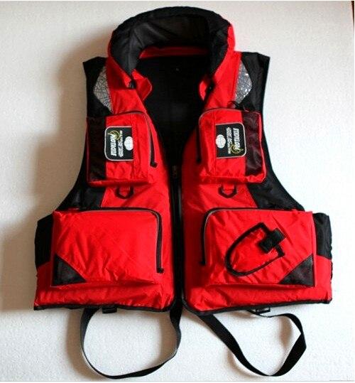 Топ quanlty одежда для рыбалки, спасательный жилет, рыболовный жилет, спасательный жилет для рыбалки с капюшоном L, XL, XXL Размер - Цвет: Красный
