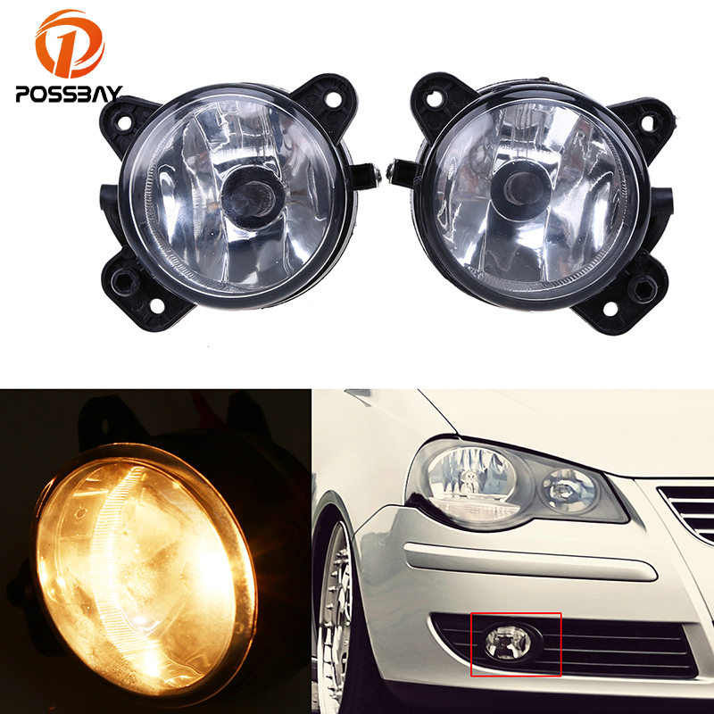 POSSBAY Halogen Car Fog Light Fog Lamp 9006 Bulb Driving Daytime Running Lights for VW Transporter T5 & Caravelle 2003-2010 boaosi 1x 9006 hb4 car canbus bulbs reflector mirror design fog lights no error for vw golf 6 mk6 scirocco t5 transporter