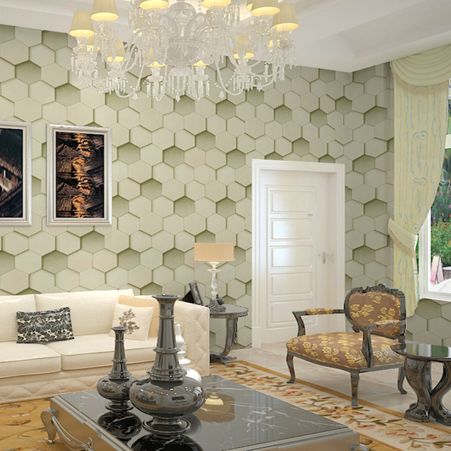 Cool Wallpapers For A Room: Wallpaper Geometric Hexagon Patterns Cool Modern Design